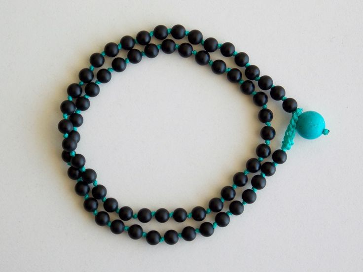Double men's bracelet from Black mat Onyx and a stone from Turquoise- Price:22.00€