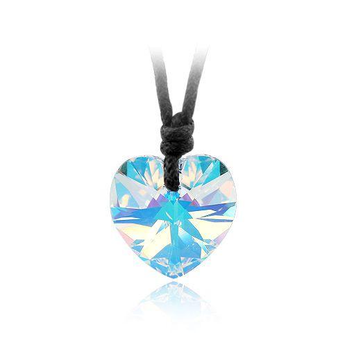 Ретро в форме сердца ожерелье веревку цепи кольер женщины дети ювелирные изделия с элементами Swarovski кристаллы из кристаллов сваровски