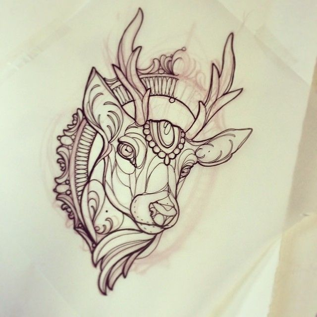 deer head drawing tumblr - photo #37