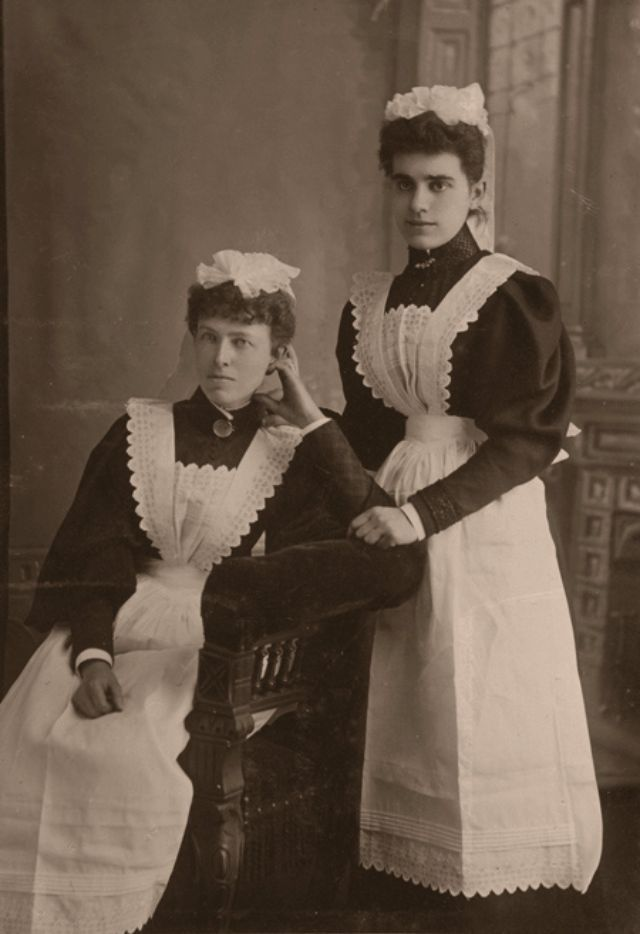 vintage everyday: 40 Vintage Portrait Pictures of House Maids in the Edwardian Era