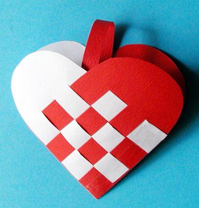 Coeur de noël tressé d'Andersen - Noel Tete a modeler