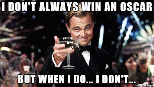 Leonardo DiCaprio Oscar meme