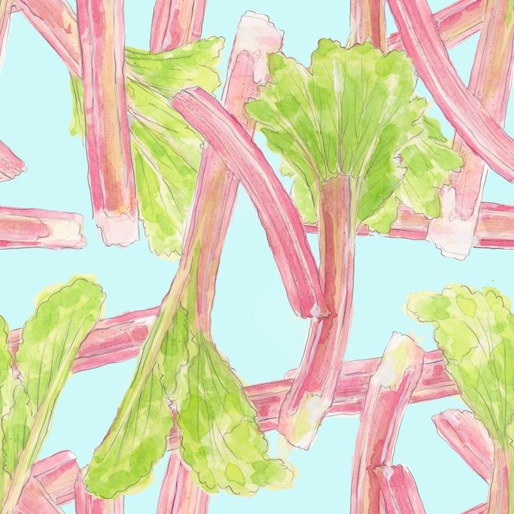 Rhubarb Silk Crepe Scarf