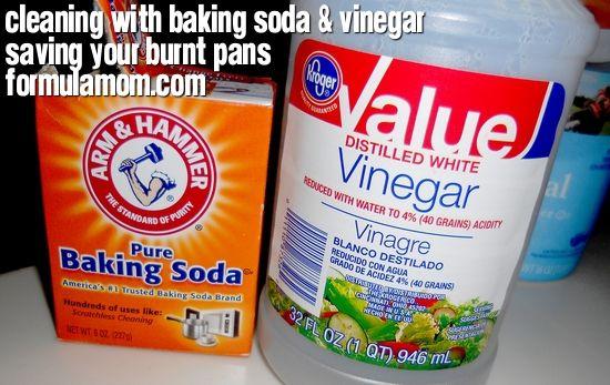 Cleaning with Baking Soda & Vinegar: Burnt Pan Saver