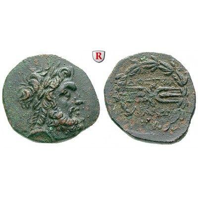 Lydien, Tralleis, Bronze 2.-1. Jh.v.Chr., vz/ss+: Bronze 21 mm 2.-1. Jh.v.Chr. Zeuskopf r. mit Lorbeerkranz / Blitzbündel im… #coins