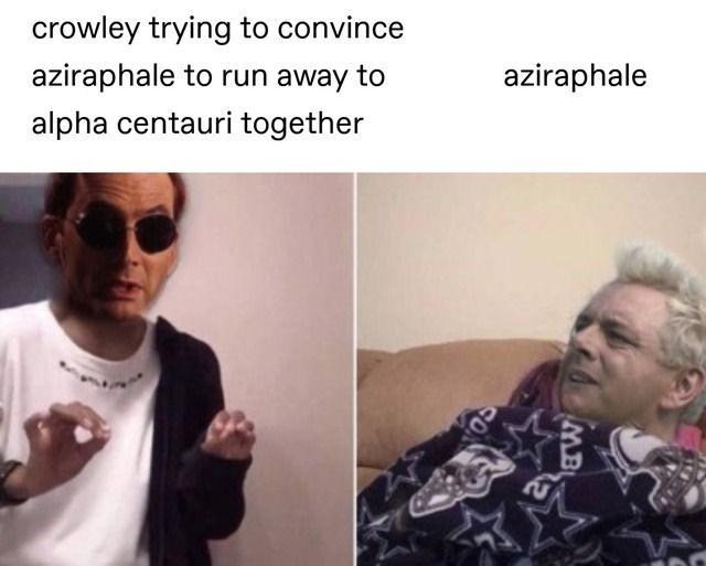 good omens ineffable husbands crowley aziraphale   Tumblr