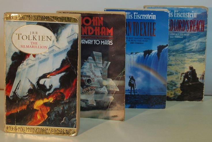 4 x CLASSIC Fantasy/Sci Fi Novels. TOLKIEN, WYNDHAM, EISENSTEIN