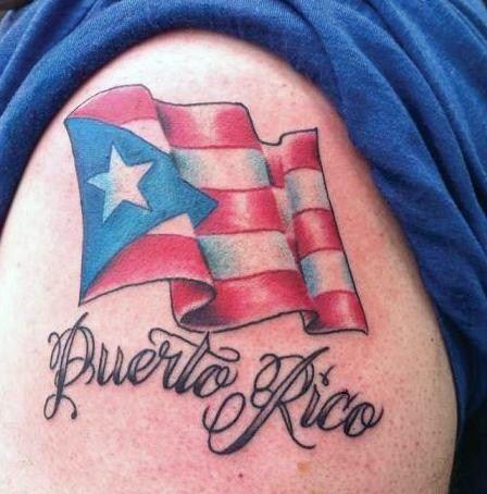 puerto rican tattoos   Puerto Rico Flag Tattoojpg Pictures