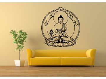 india bamboo der goa indien shop wandtattoo buddha. Black Bedroom Furniture Sets. Home Design Ideas