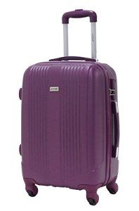 Valise cabine 55cm – Trolley ALISTAIR Airo – ABS ultra Léger – 4 roues – Violet