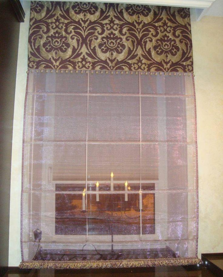 #римская_штора из жаккарда #Ashley #KobeFabric Дизайн @ilonina_irina #кухня #galleria_arben #шторы #ткани #fabric