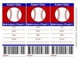 free baseball ticket invitations