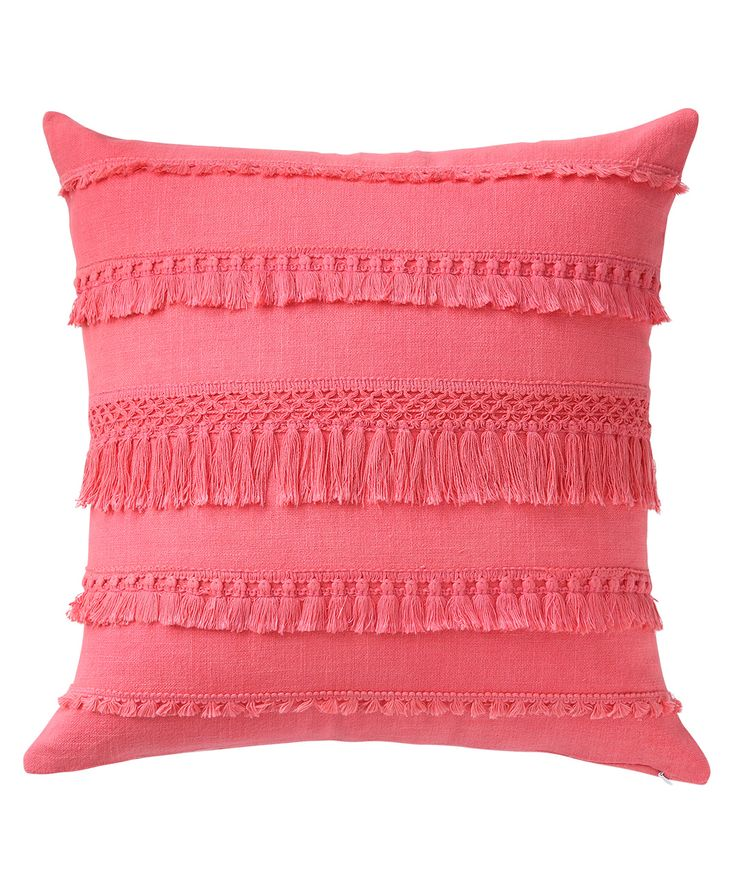 This pink cushion with matching tassels adds a lot of drama to any room. www.theindianpick.com