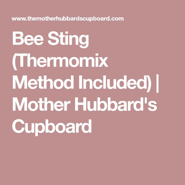 Bee Sting (Thermomix Method Included) | Mother Hubbard's Cupboard