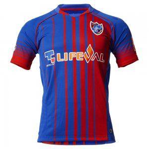 FC Tokyo 16-17 Season Home Red Blue Soccer Jersey [G962]