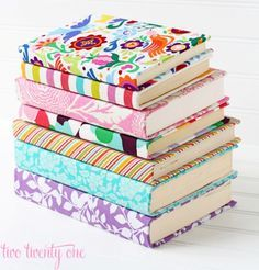 Fabric Covered Books | 50 Really Cool and Easy DIY Crafts For Teens | Crafts For Teens | DIY Projects for teens |DIY Crafts