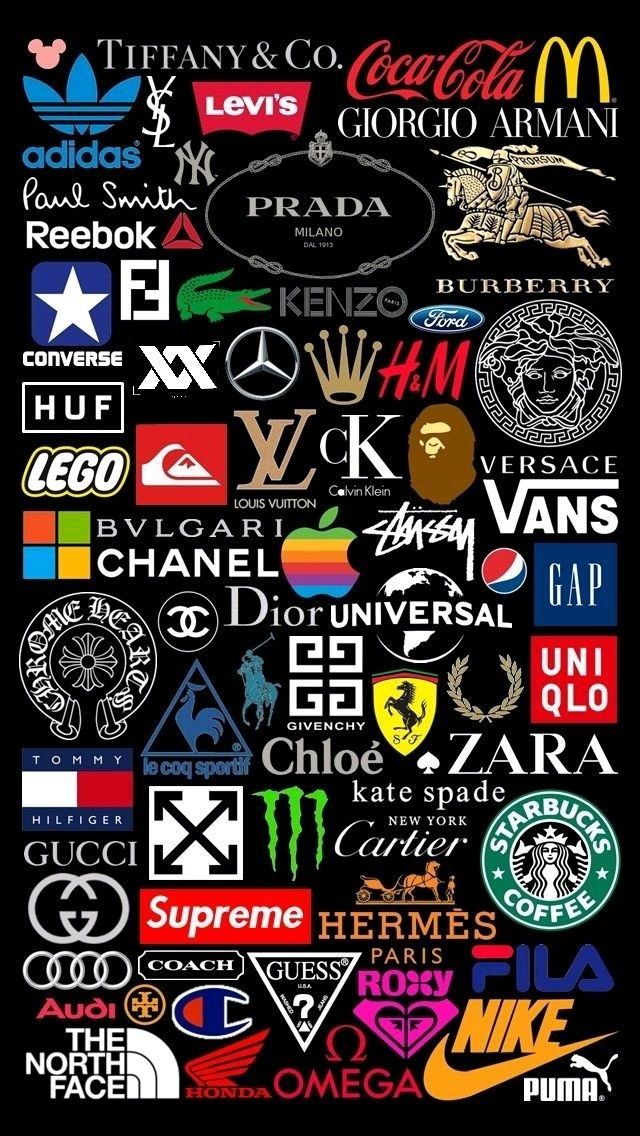 From streetwear to luxury, the top brand logos on a