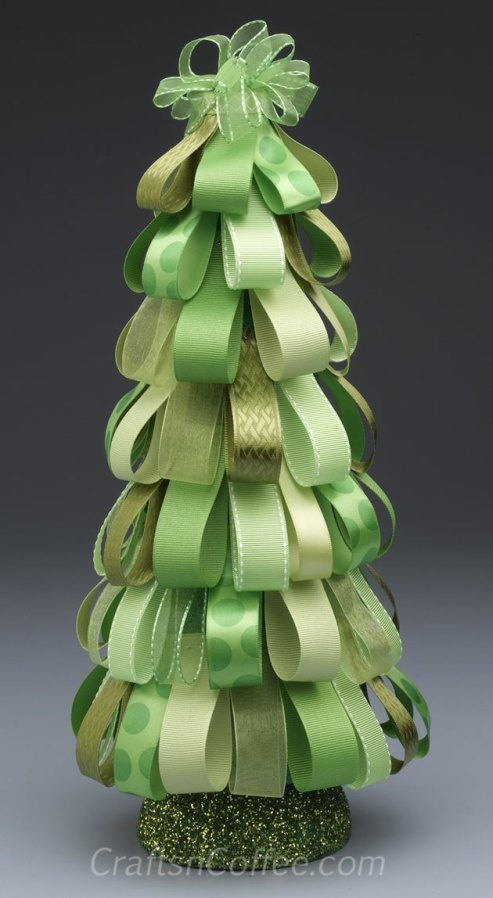Christmas Ribbon Topiary by Kathleen George.