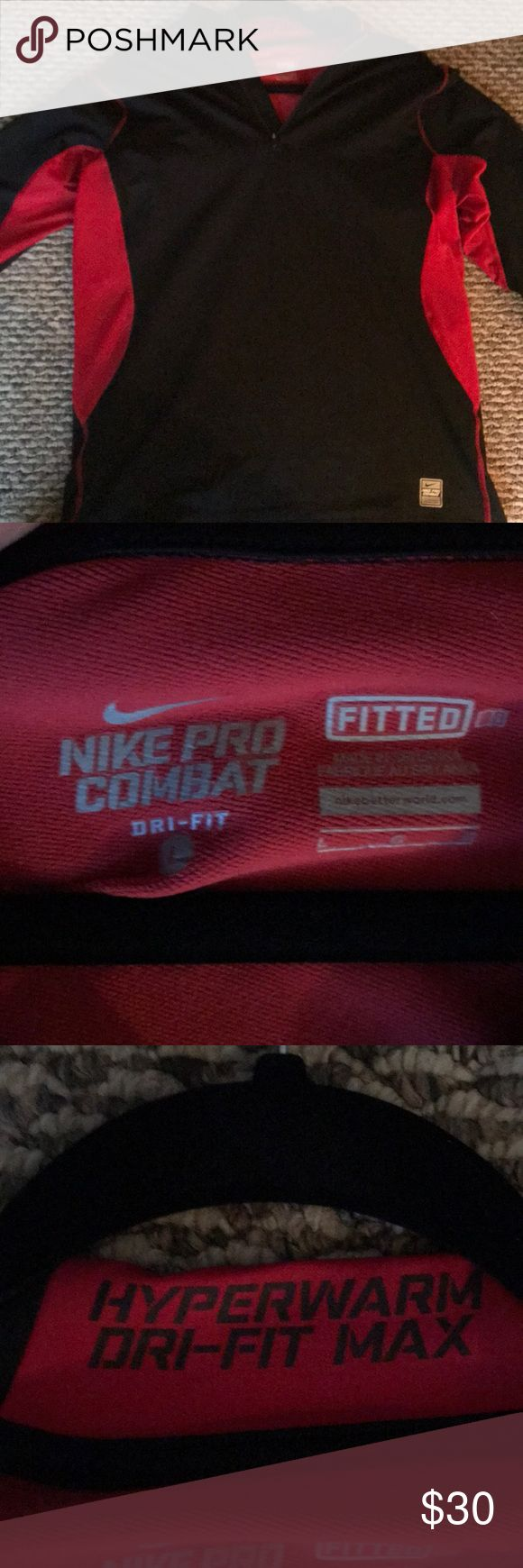 Nike Pro Combat Long Sleeve Shirt Nike Hyperwarm Dri Fit Max Fitted Long Sleeve workout jacket. Perfect for outside! Nike Shirts