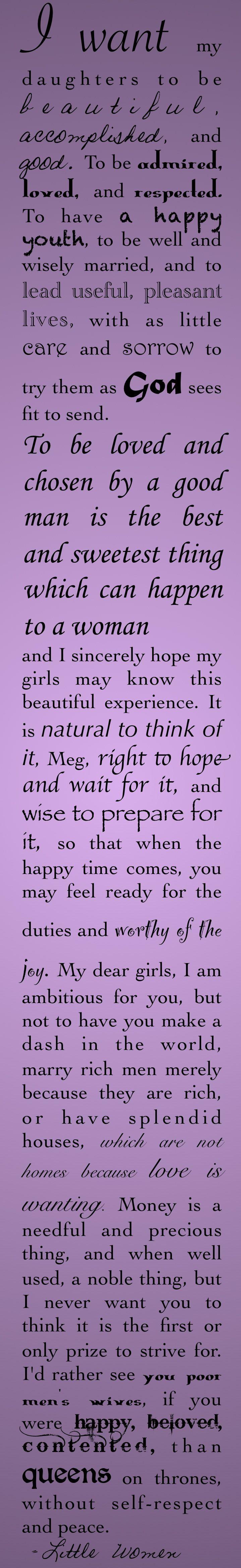 The Best Wishes. Marmee, Little Women, Louisa May Alcott