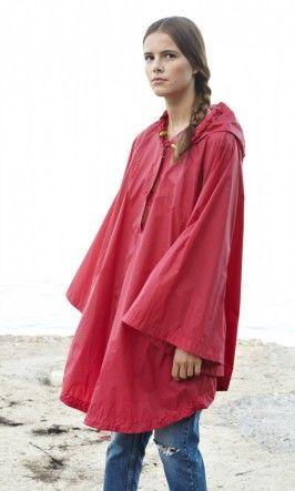 before the summer must come rain...Rain Poncho - Hibiscus - Plümo Ltd