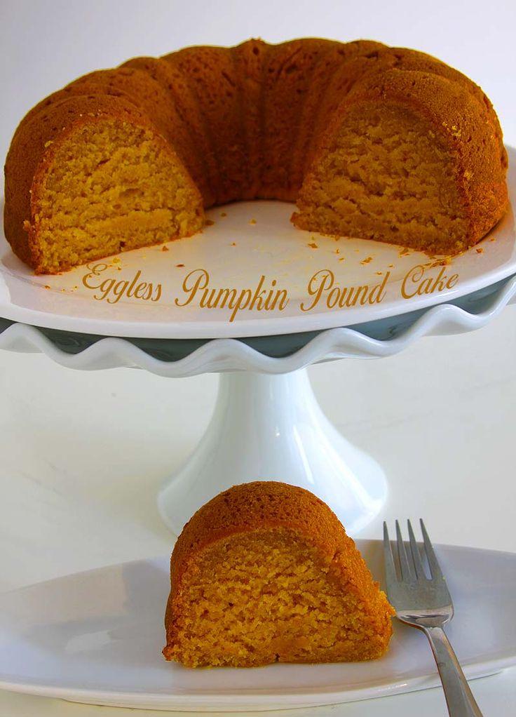 eggless pumpkin pound cake