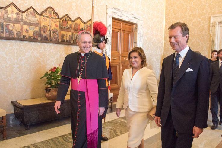 Le grand duc Henri et la grande duchesse Maria Teresa vont rencontrer le pape François au Vatican.