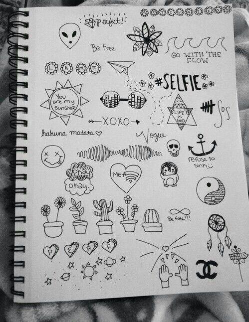 искусство, фон, каракули, рисунки, блокнот, Tumblr, обои