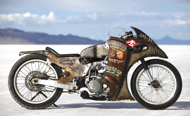 Super Rat - Rotax Motor 500 cc Turbo Charged & Knight Flat Track Quadro personalizado por Piloto da salada do ovo em Bonneville Salt Flats - 2011