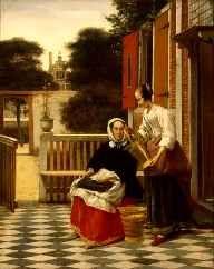 La Señora y su Criada de Pieter Henricksz de Hooch en El museo Hermitage en San Petersburgo, Rusia