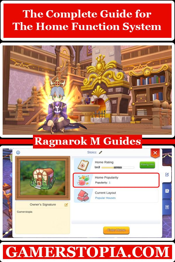 The Complete Guide For The Home Function System In Ragnarok Mobile Eternal Love Gamerstopia Videogame Mmo Build Your Own House Build Your House System