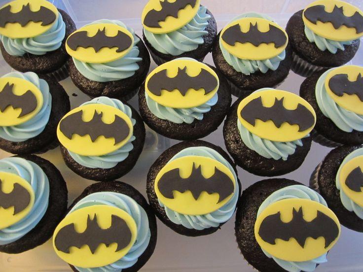 Batman cupcakes.