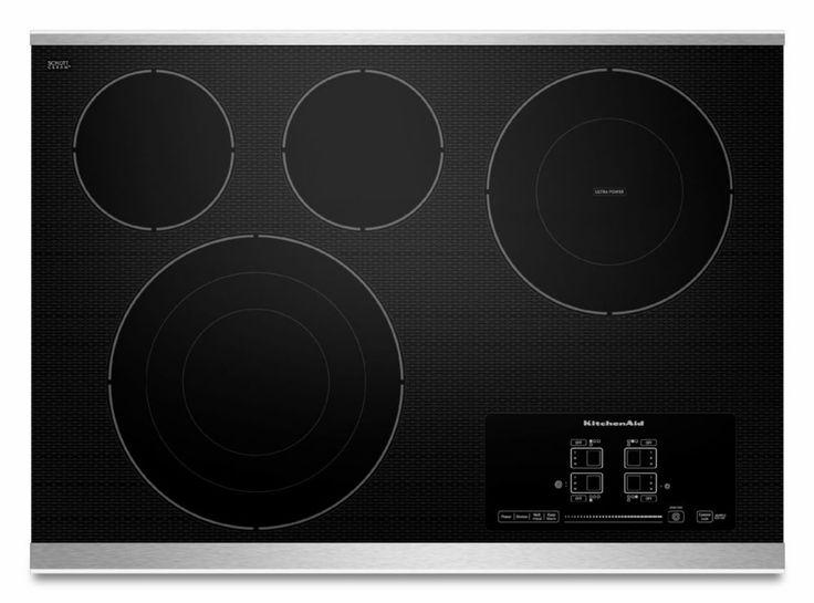 Table de cuisson électrique Architect série II 30 po, 4 éléments - KECC607BSS