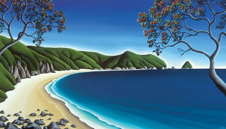 Secluded Cove, Coromandel by Diana Adams. imagevault.co.nz