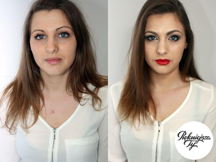 Mała metamorfoza, jak wiele potrafi zrobić regulacja i odpowiedni makijaż brwi? :)  #piekniejszaty #skierniewice #makijaż #makeup #metamorfoza