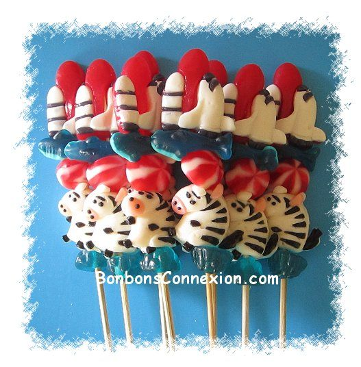 Candy kabobs for all occasions! Des brochettes de bonbons pour toutes occasions.  #CandyKabobs #BrochettesBonbons