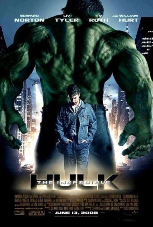 The Incredible Hulk Poster placed on wall as part of the superhero theme for decoration.