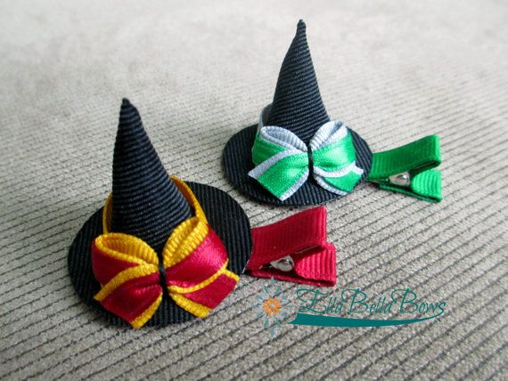 Harry Potter Inspired Witch Hat Ribbon Sculpture Hair Clip, choice of ONE via Etsy