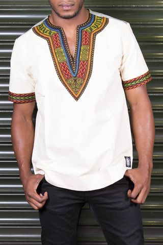 Dashiki - African T-Shirt - Men's