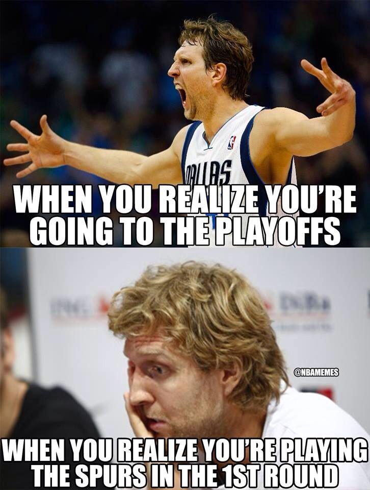 Dirk Nowitzki, Mavericks vs Spurs, NBA Playoffs meme