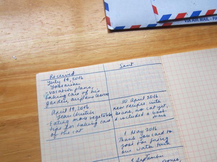 Organizing Correspondence Letter Writing Ledger Log Record Wonder Pens Stationery Shop Toronto Canada