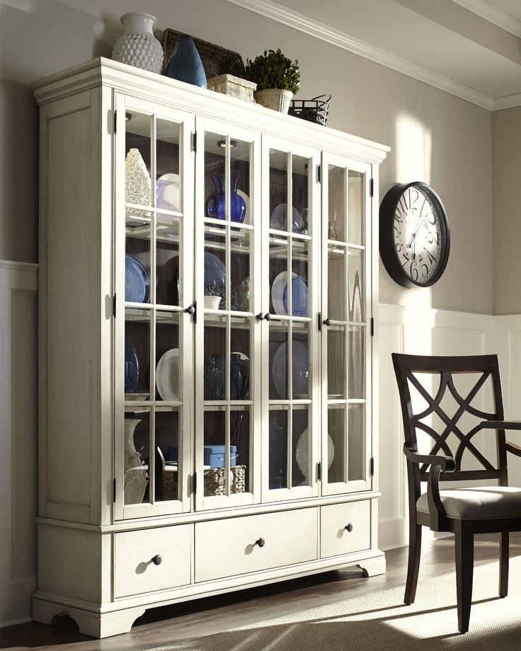Trisha Yearwood Home Monticello Curio Cabinet with Additional Drawer Storage and Paned Glass Doors by Trisha Yearwood Home Collection by Klaussner on display at Rotmans Worcester, MA