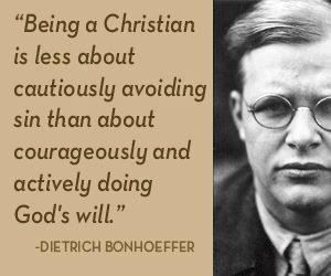 Bonhoeffer / sunday morning ponderings