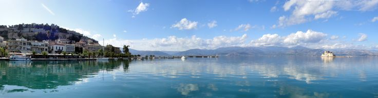Perfect reflection in the port of #Nafplio, #Greece