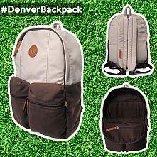Evrawood Denver Backpack Stone Dark Brown