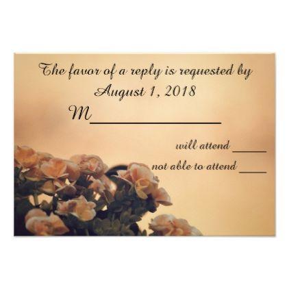'Begonia Wedding' RSVP Card 402 - wedding invitations cards custom invitation card design marriage party
