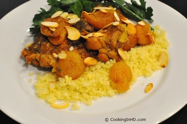 Moroccan Chicken with Apricots and Almonds