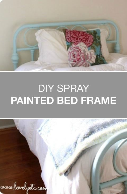 spray paint this repurposed brass bed frame is the perfect example. Black Bedroom Furniture Sets. Home Design Ideas