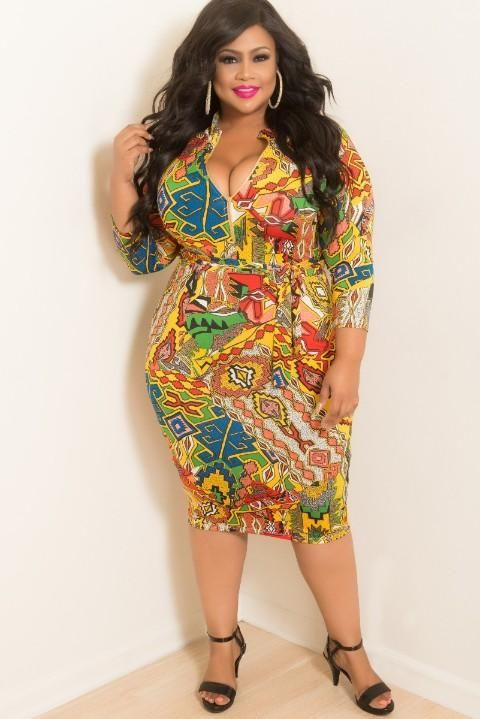bf7497c43626 Final Sale Plus Size BodyCon with Zipper Front in Neon Yellow