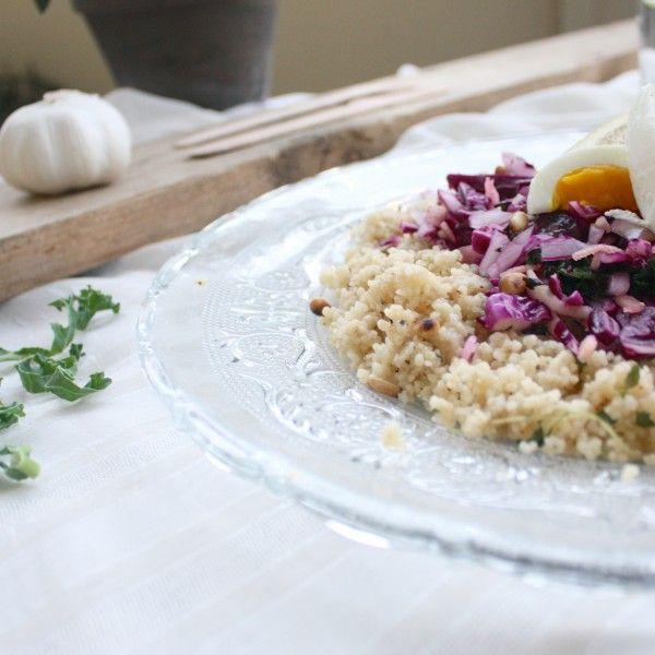 Rødkålsalat med sitron og timianvinaigrette